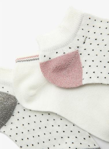 Koton 3'lü Çorap Beyaz